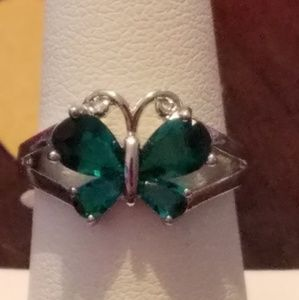 925 sterling silver turquoise blue green ring.